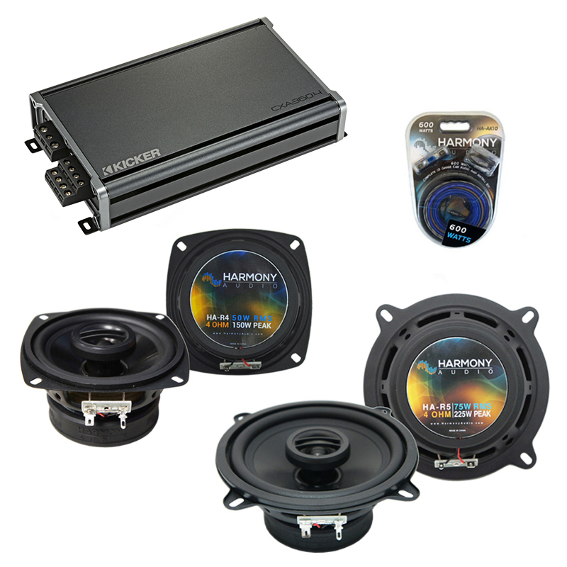 Compatible with Audi 100/200 Series 1989-1995 OEM Speaker Replacement Harmony R4 R5 & CXA300.4 Amp