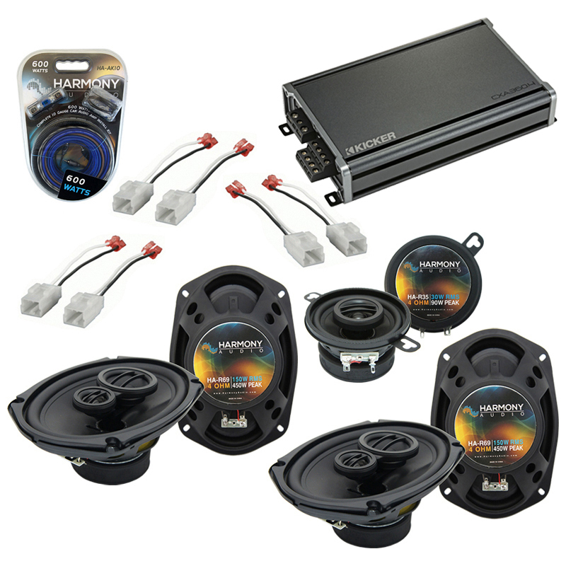 Compatible with Dodge Magnum 2005-2007 Factory Speaker Replacement Harmony R69 R35 & CXA360.4 Amp