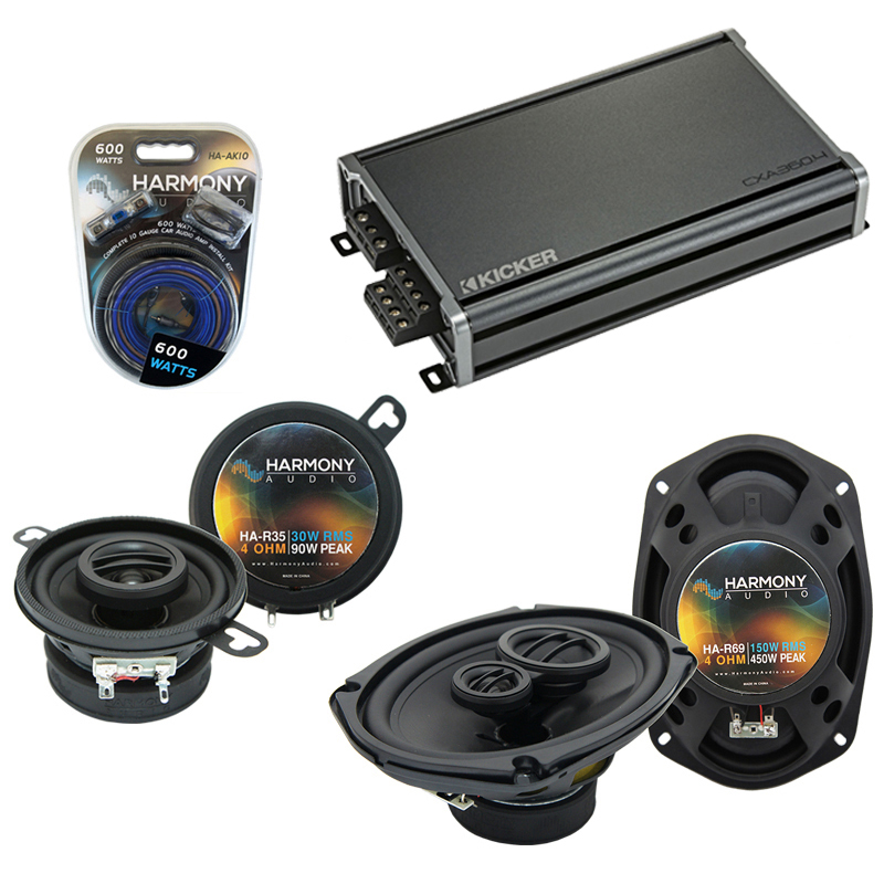 Compatible with Dodge Mirada 1983-1983 Factory Speaker Replacement Harmony R35 R69 & CXA360.4 Amp