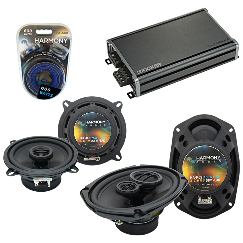 Compatible with Dodge Monaco 1990-1992 Factory Speaker Replacement Harmony R5 R69 & CXA360.4 Amp