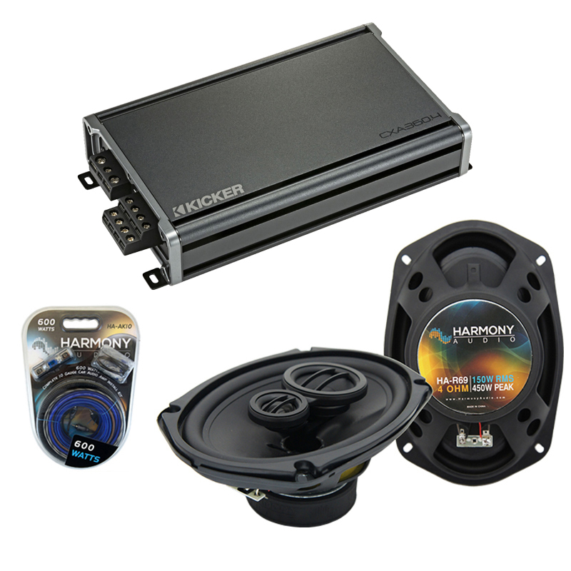 Compatible with Dodge Truck 1974-1983 Factory Speaker Replacement Harmony R69 & CXA360.4 Amp