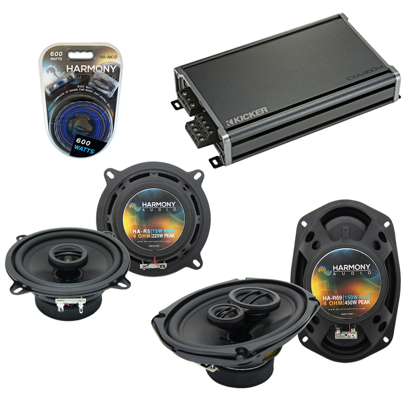 Compatible with Dodge Ram Charger 1981-1983 Speaker Replacement Harmony R69 R5 & CXA300.4 Amp