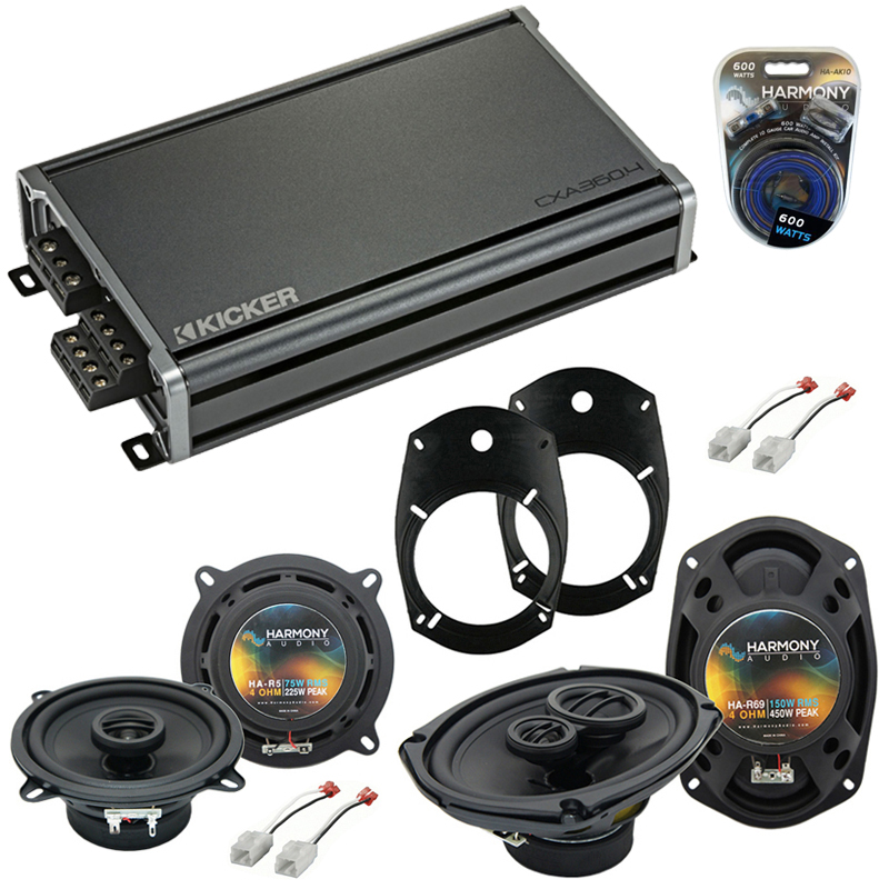 Compatible with Dodge Ram Truck 1994-2001 OEM Speaker Replacement Harmony R69 R5 & CXA360.4 Amp