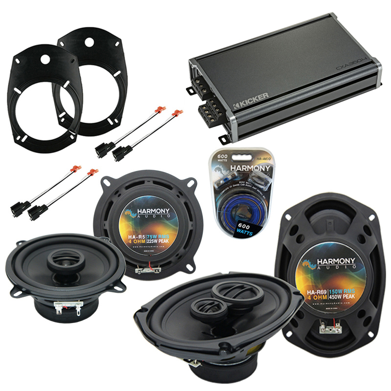 Dodge Ram Truck 2500/3500 03-05 Speaker Upgrade Harmony Speakers & CXA300.4 Amp