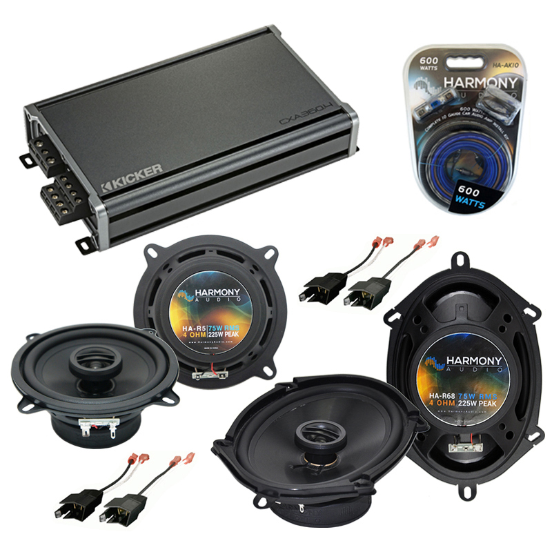 Dodge Shadow 1987-1995 Factory Speaker Upgrade Harmony R5 R68 & CXA300.4 Amp