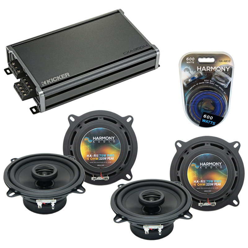Compatible with Dodge Spirit 1989-1994 Factory Speaker Replacement Harmony (2) R5 & CXA300.4 Amp