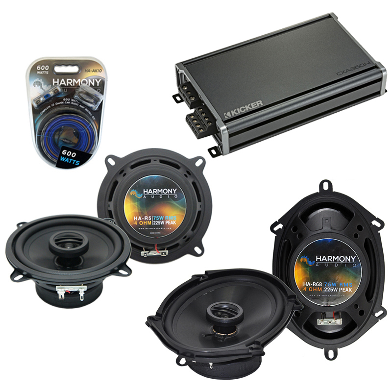 Dodge Spirit 1995-1995 Factory Speaker Upgrade Harmony R5 R68 & CXA300.4 Amp