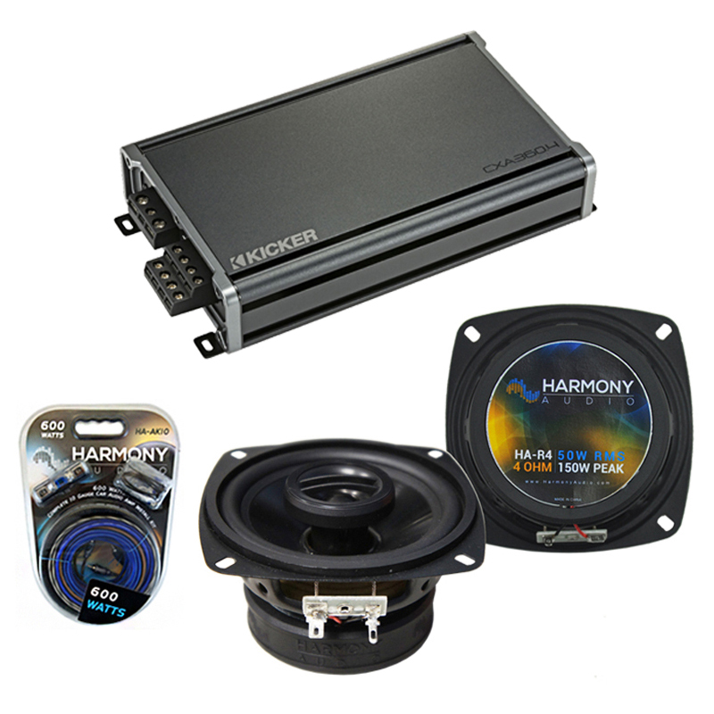 Dodge Sprinter 2003-2009 Factory Speaker Replacement Harmony R4 & CXA300.4 Amp