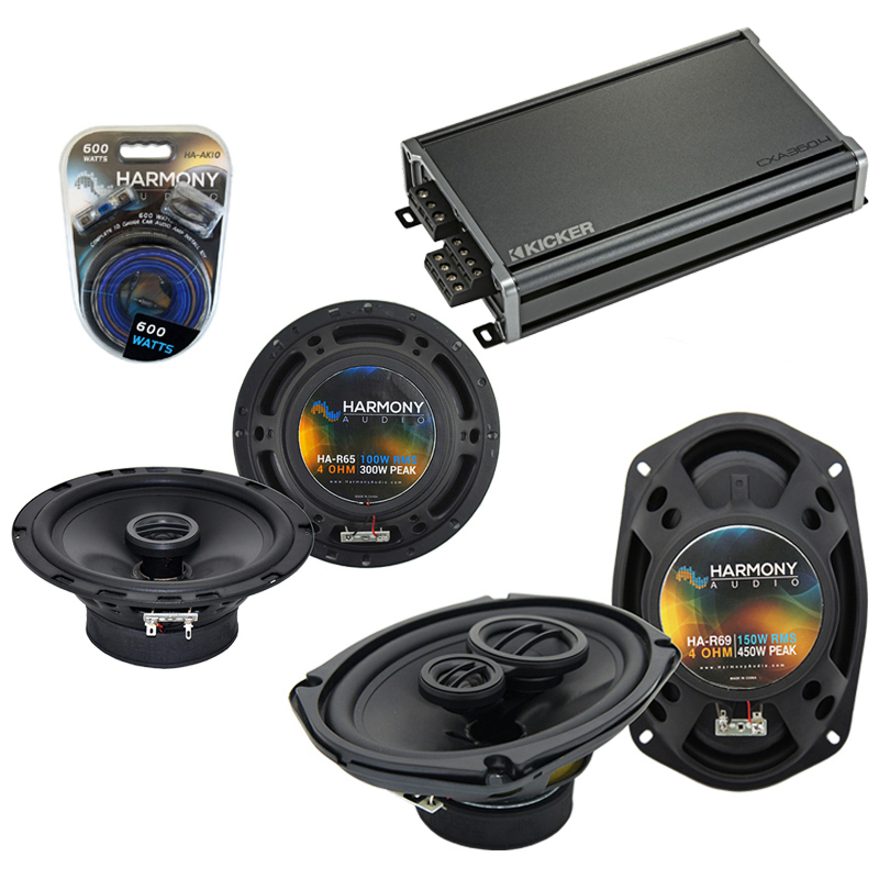 Compatible with Dodge Stealth 1990-1996 OEM Speaker Replacement Harmony R65 R69 & CXA300.4 Amp