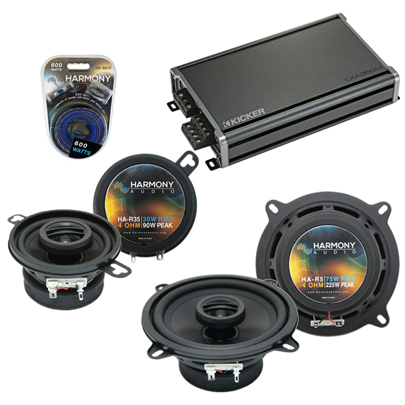 Compatible with Dodge Van (Full Size) 78-83 OEM Speaker Replacement Harmony R5 R35 & CXA360.4 Amp