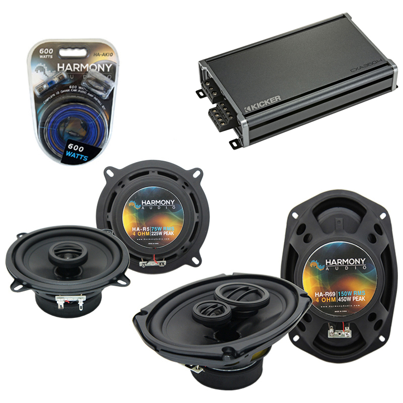 Eagle Premier 1988-1992 Factory Speaker Upgrade Harmony R5 R69 & CXA300.4 Amp