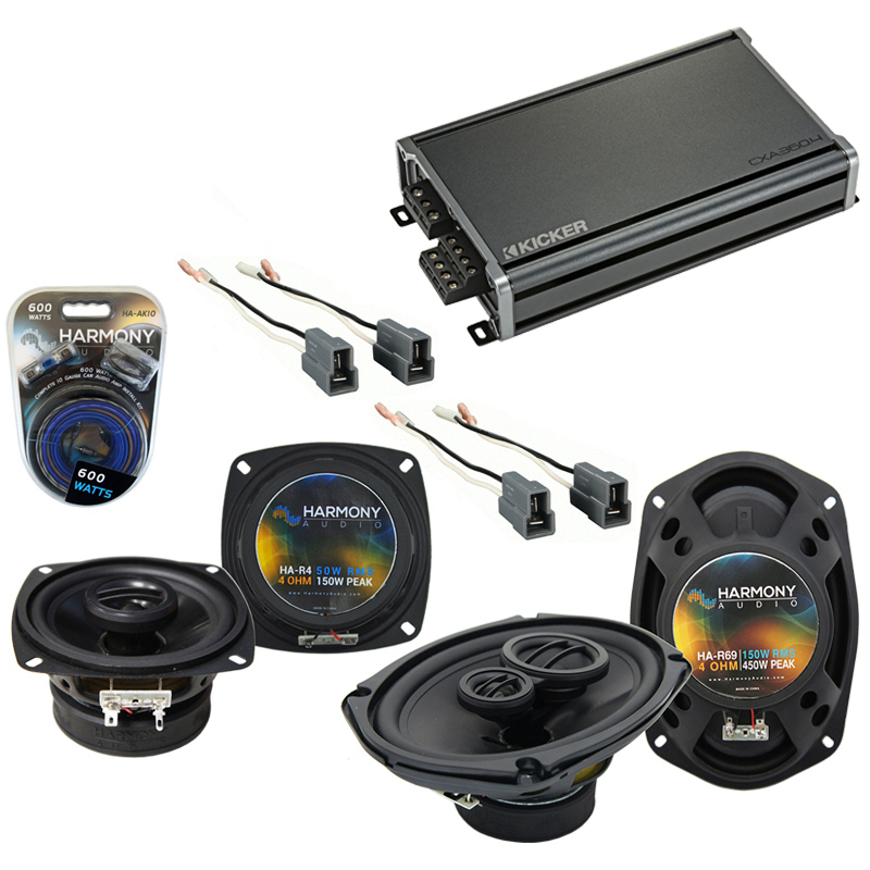 Eagle Summit 1988-1992 Factory Speaker Upgrade Harmony R4 R69 & CXA300.4 Amp
