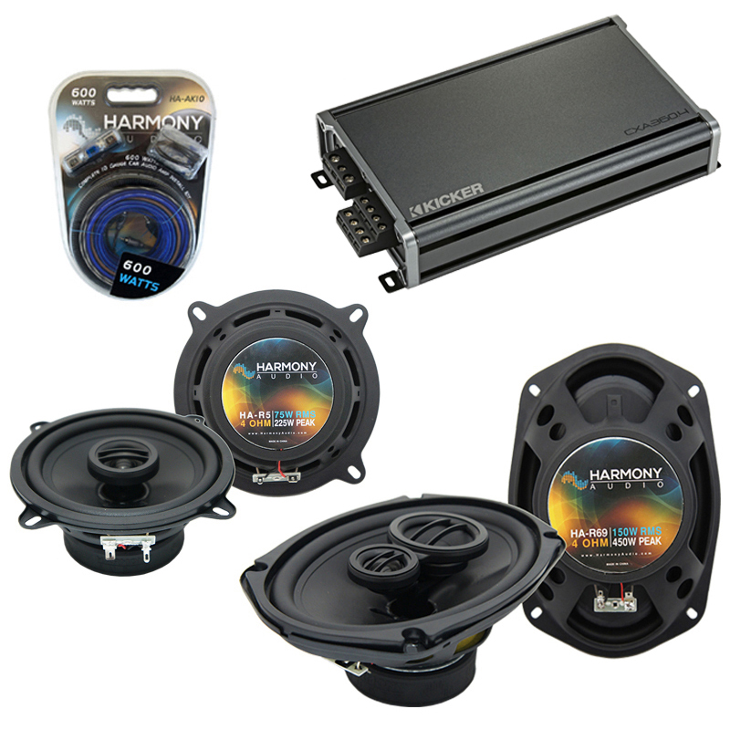 Compatible with Fiat 131 1990-1983 Factory Speaker Replacement Harmony R5 R69 & CXA300.4 Amp