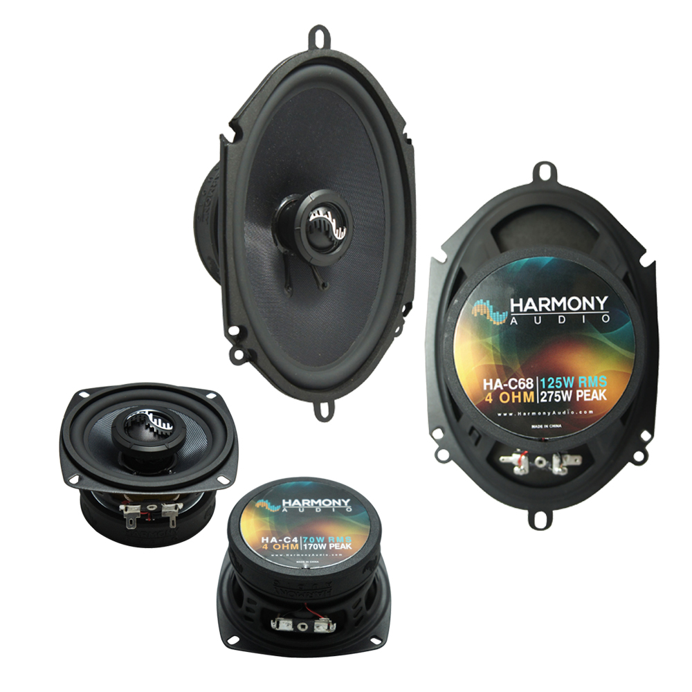 Harmony Audio Compatible With 1983-88 Ford Bronco II HA-C4 HA-C68 New Premium Factory Speaker Replacement Upgrade Package