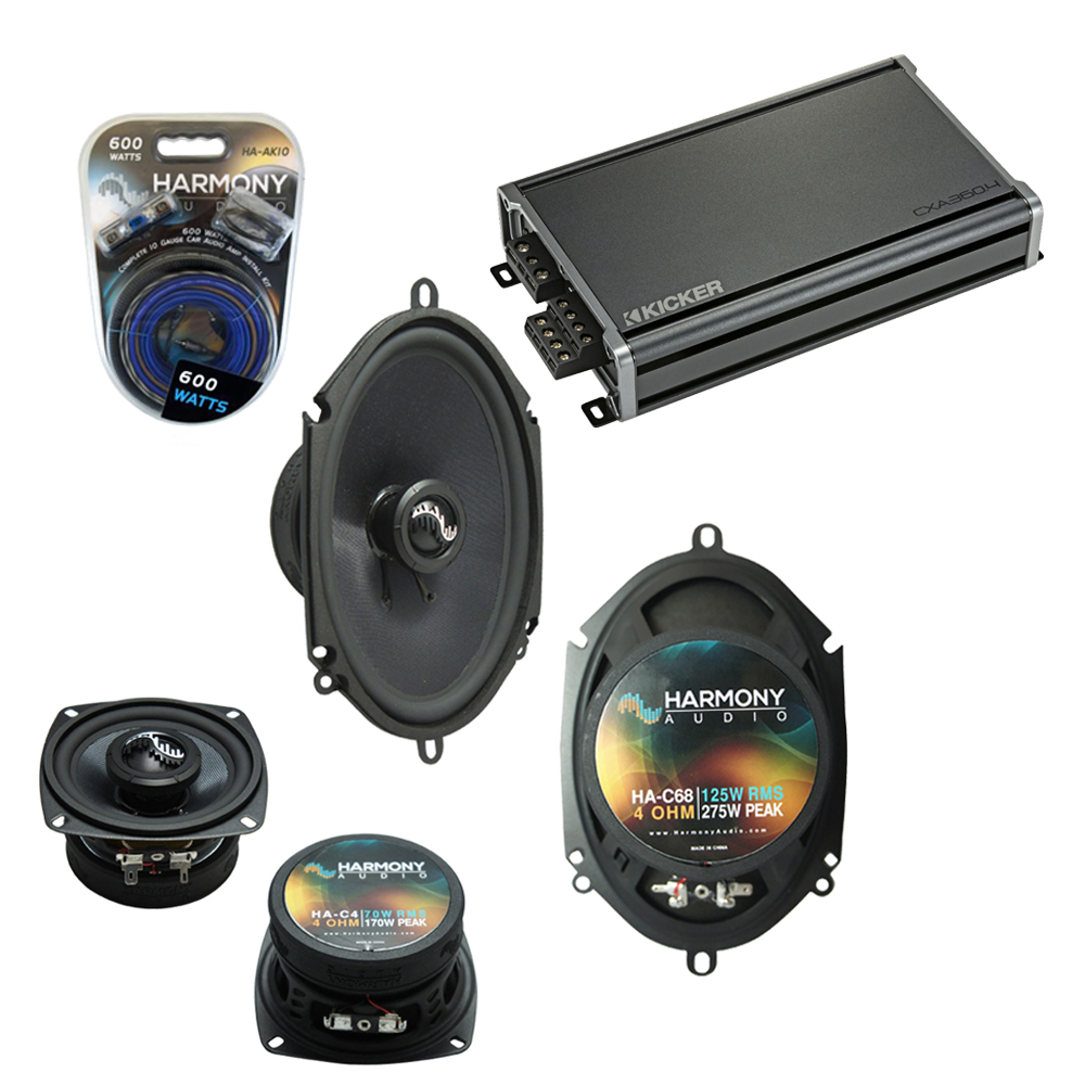 Compatible with Ford Bronco II 1983-1988 Factory Speakers Replacement Harmony C4 C68 & CXA360.4