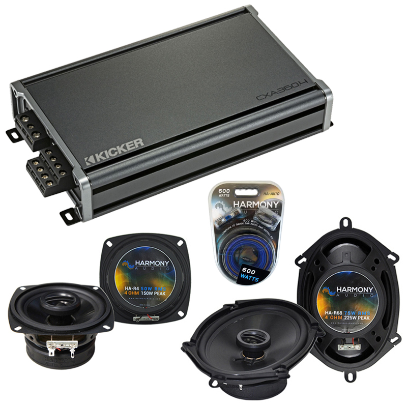 Compatible with Ford Bronco II 1983-1988 Factory Speaker Replacement Harmony R4 R68 & CXA360.4 Amp