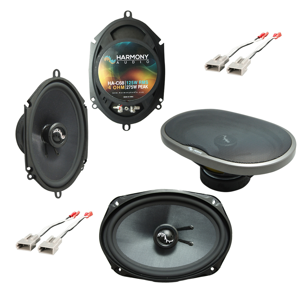 Harmony Audio Compatible With 1992-97 Ford Crown Victoria HA-C68 HA-C69 New Premium Factory Speaker Replacement Upgrade Package