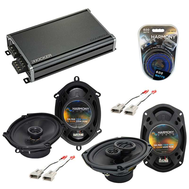 Compatible with Ford Crown Victoria 92-97 OEM Speaker Replacement Harmony R68 R69 & CXA360.4 Amp