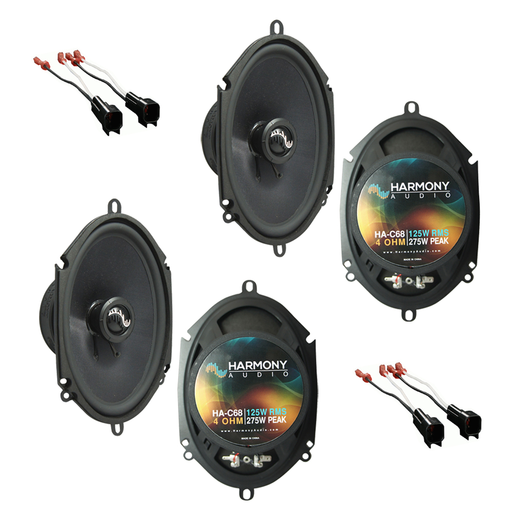 Harmony Audio Compatible With 2007-10 Ford Edge (2) HA-C68 New Factory Speaker Replacement Premium Upgrade Package