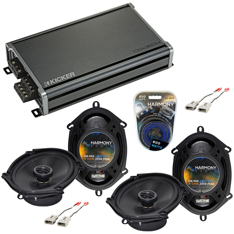 Compatible with Ford Expedition 1997-1998 Factory Speaker Replacement Harmony (2) R68 & CXA360.4 Amp