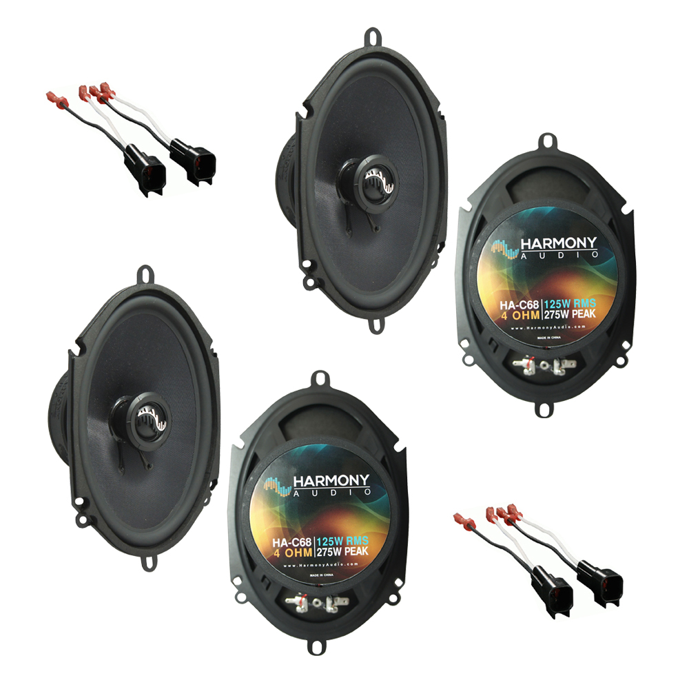 Harmony Audio Compatible With 2004-07 Ford Freestar (2) HA-C68 New Premium Factory Speaker Replacement Upgrade Package