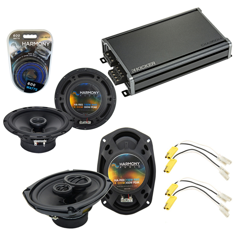 Compatible with Ford F-Series Truck 1980-1981 OEM Speaker Upgrade Harmony Speakers & CXA360.4 Amp