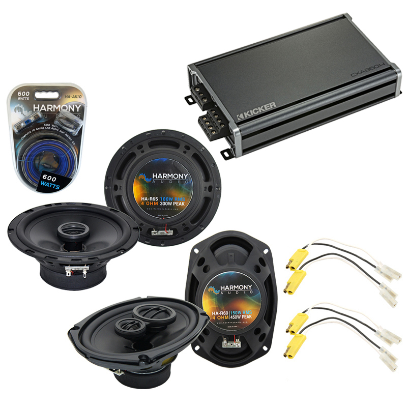 Compatible with Ford LTD 1980-1981 Factory Speaker Replacement Harmony R5 R69 & CXA360.4 Amp