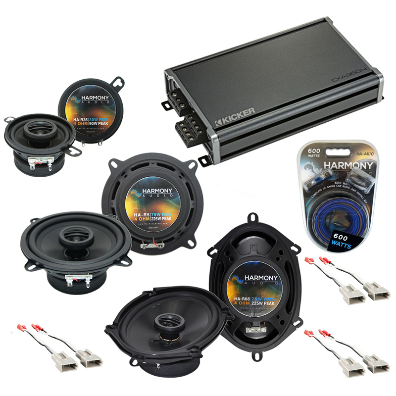 Compatible with Ford LTD 1989-1991 Factory Speaker Replacement Harmony Replacement & CXA360.4 Amp