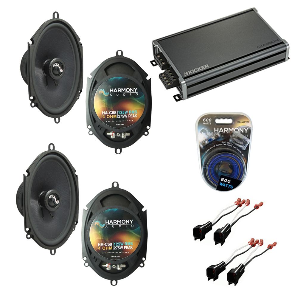 Compatible with Ford Mustang 2005-2009 Factory Speakers Replacement Harmony (2) C68 & CXA360.4
