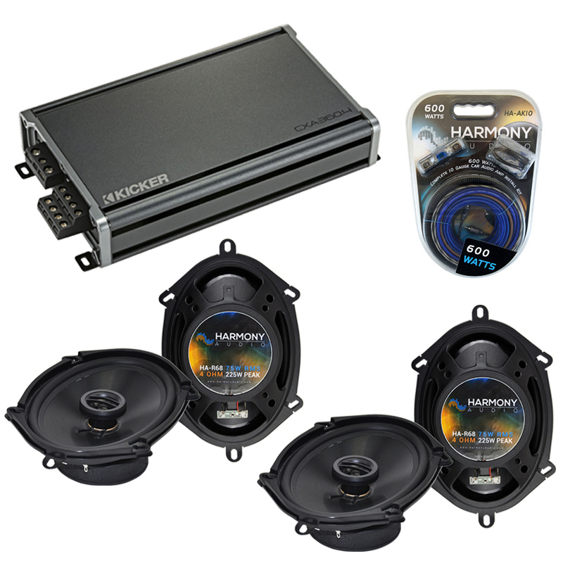 Compatible with Ford Taurus / Taurus X 2008-2009 Factory Replacement Harmony (2) R68 & CXA360.4 Amp