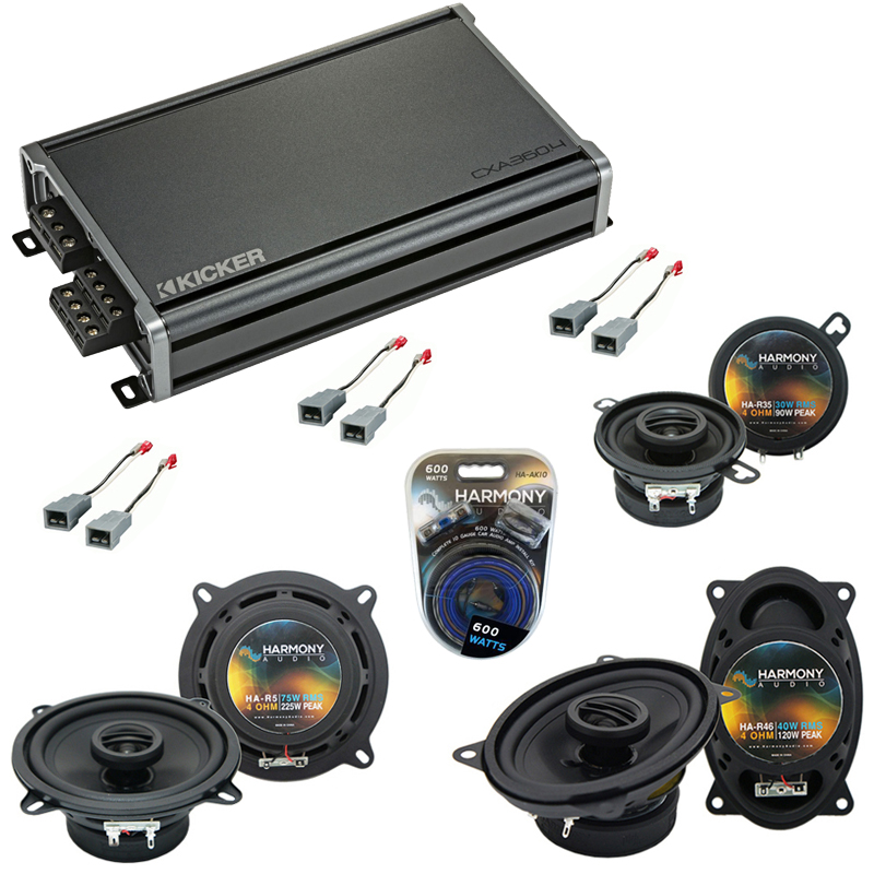 Compatible with Ford Taurus 1986-1989 Factory Speaker Replacement Harmony Replacement & CXA360.4 Amp
