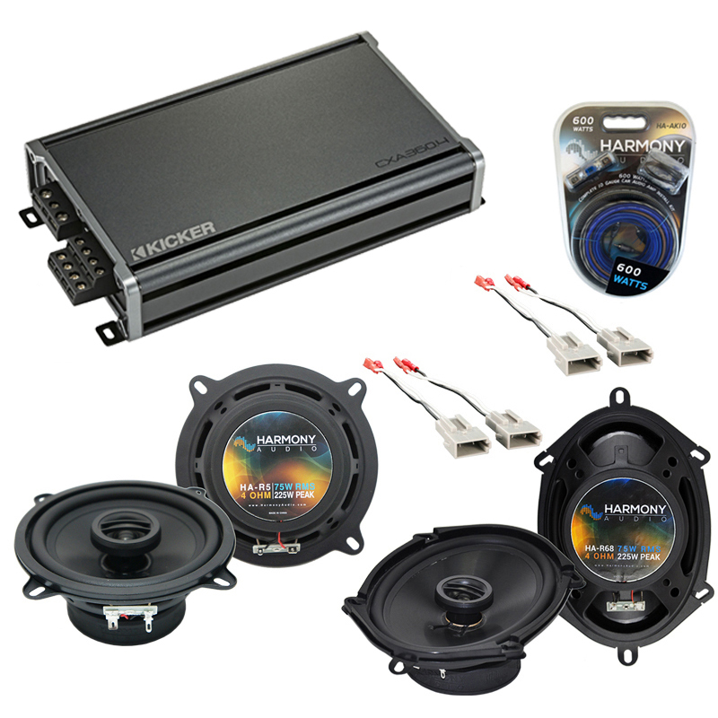 Compatible with Ford Taurus 1990-1995 Factory Speaker Replacement Harmony R5 R68 & CXA360.4 Amp