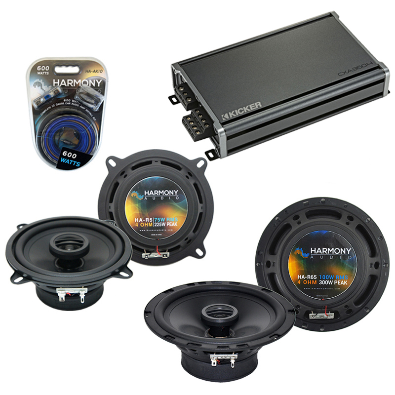 Compatible with Geo Prizm 1993-1997 Factory Speaker Replacement Harmony R5 R65 & CXA360.4 Amp
