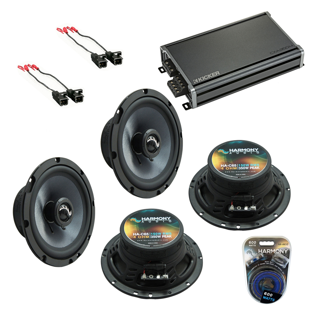 Compatible with GMC Canyon 2004-2012 Factory Speakers Replacement Harmony (2) C65 & CXA3004