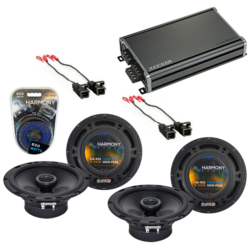 Compatible with GMC Canyon 2004-2012 Factory Speaker Replacement Harmony (2) R65 & CXA300.4 Amp