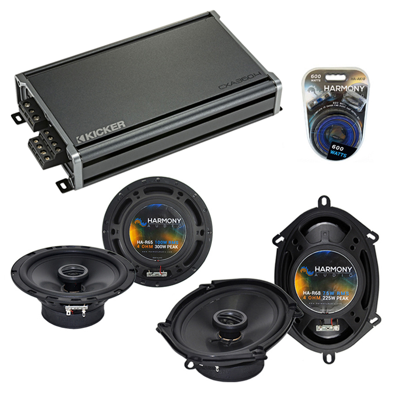 Compatible with Audi S4 2002-2008 Factory Speaker Replacement Harmony R5 R65 & CXA360.4 Amp