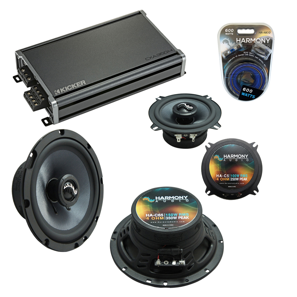Compatible with GMC Sierra 2007-2013 Factory Speakers Replacement Harmony C65 C5 & CXA360.4