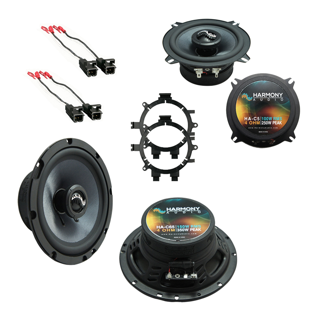 Harmony Audio Compatible with 2001-2002 GMC Yukon XL HA-C65 New Premium Factory Speaker Replacement Upgrade Package With HA-823002 Speakers Adapter Kit And HA-724568 Speaker Replacement Harness