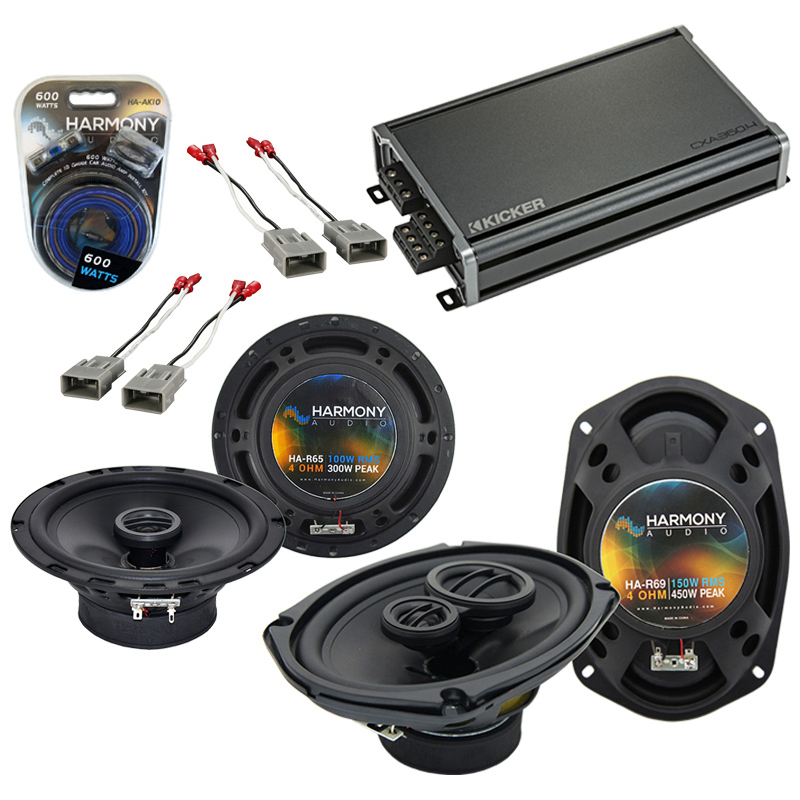 Compatible with Honda Accord 1986-1997 OEM Speaker Replacement Harmony R65 R69 & CXA360.4 Amp