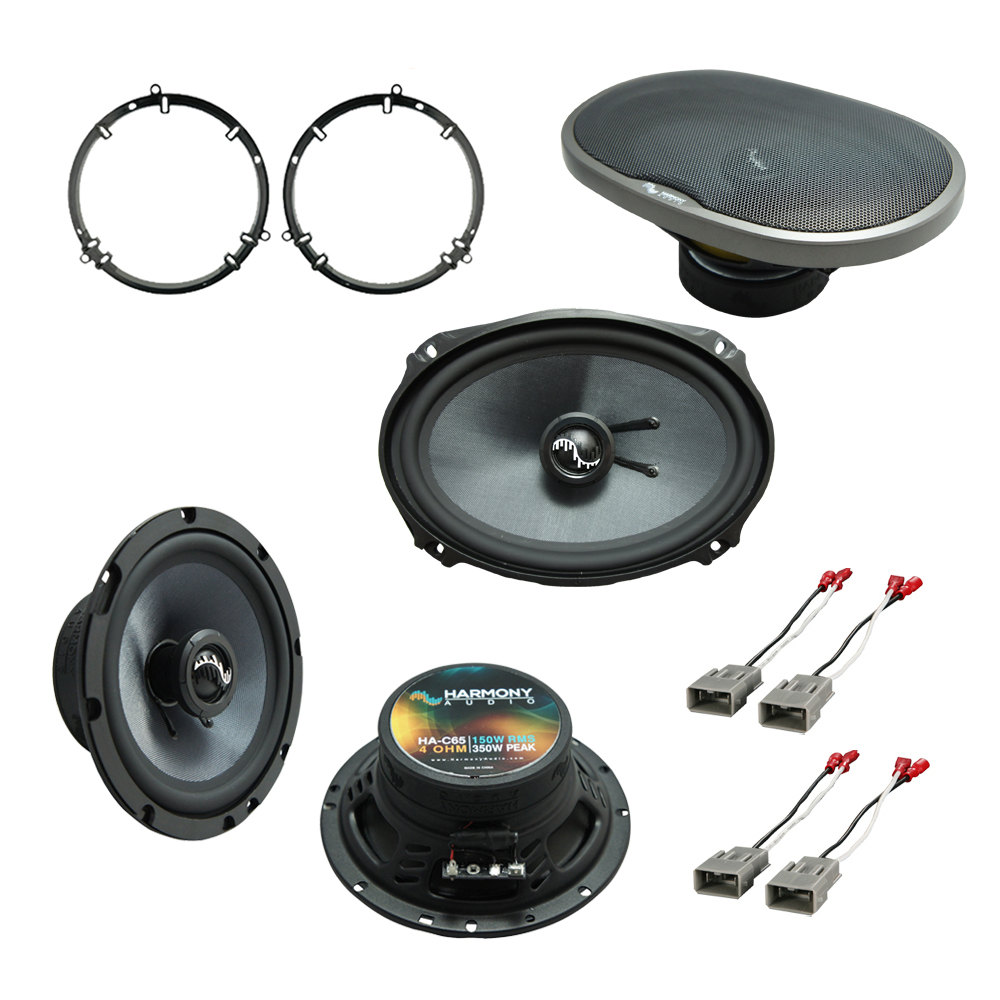 """Harmony Audio Bundle Compatible With 1998-2007 Honda Volkswagen 6.5"""" Replacement 300W Speakers With HA-C69 6x9"""" Replacement 500W Speakers And HA-727800 FacTory Speaker Replacement Harness"""