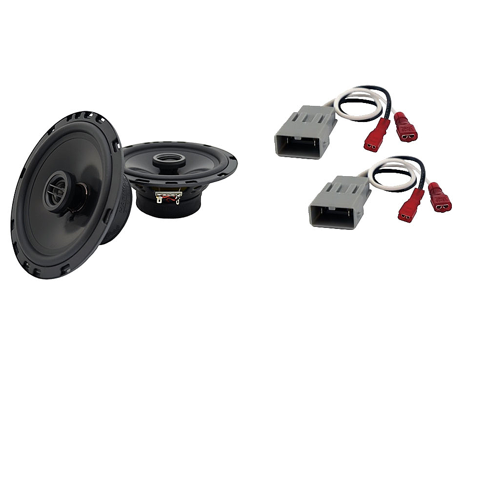 Harmony Audio Bundle Compatible with 1986-1997 Honda Accord HA-65 Replacement 300W Speakers & Grills with HA-727800 Replacement Harness