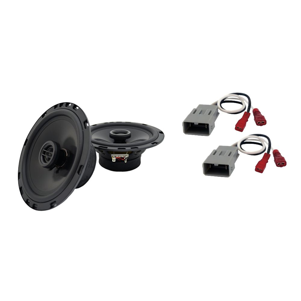 """Harmony Audio Bundle Compatible With 1986-1997 Honda Accord HA-R65 6.5"""" Replacement 300W Speakers And HA-727800 FacTory Speaker Replacement Harness"""