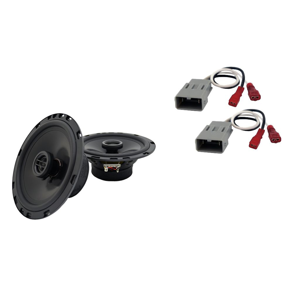 """Harmony Master Bundle Compatible with 1998-2002 Honda Accord HA-R65 6.5"""" Replacement 300W Speakers & Grills with HA-727800 Factory Speaker Replacement Harness"""