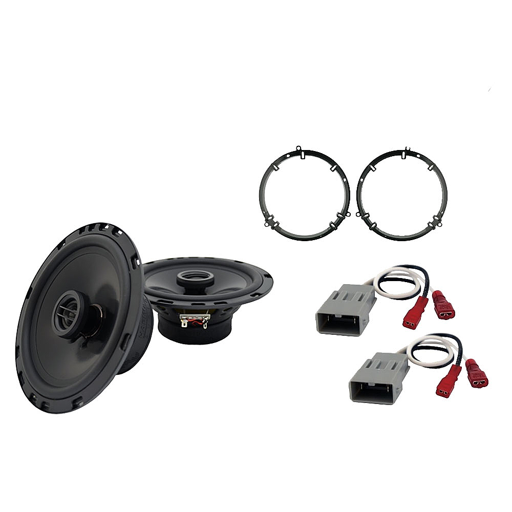 Harmony Audio Bundle Compatible with 2003-2007 Honda Accord HA-C65 Replacement 350W Speakers & Grills with HA-727800 Replacement Harness and HA-827803 Adapter Kit