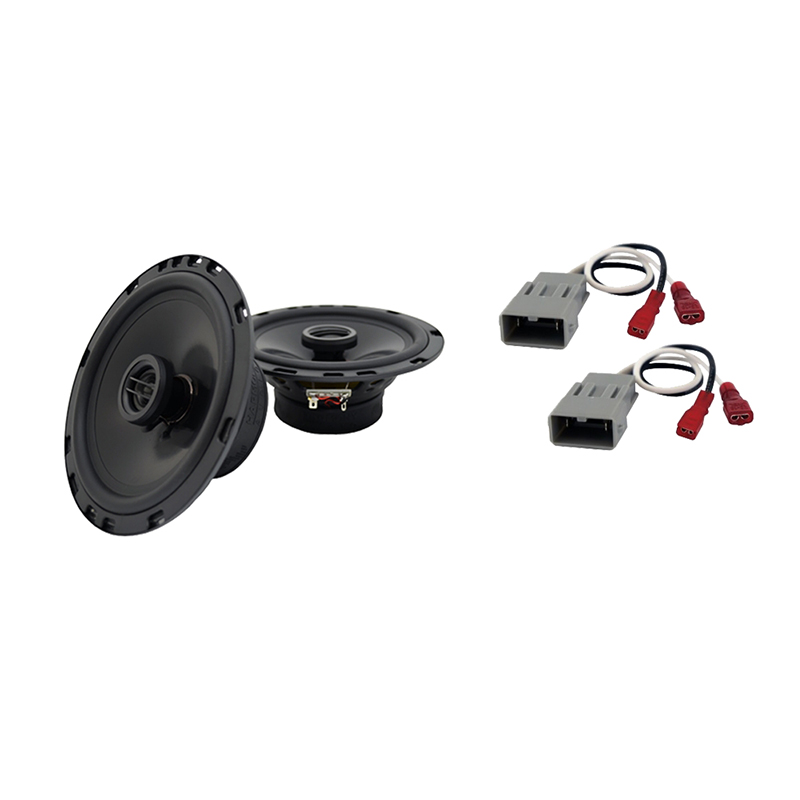 """Harmony Audio Bundle Compatible With 1986-1991 Honda Civic HA-R65 6.5"""" Replacement 300W Speakers And HA-727800 Speaker Replacement Harness"""