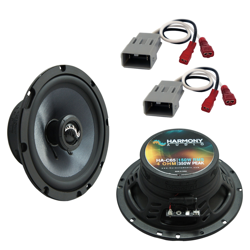Harmony Audio Bundle Compatible with 1992-1995 Honda Civic HA-C65 Replacement 350W Speakers & Grills with HA-727800 Replacement Harness