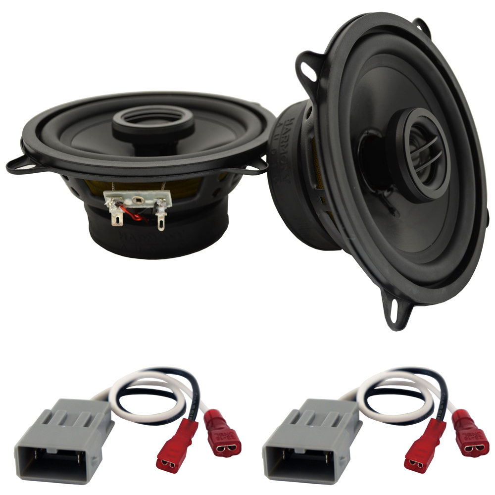 """Harmony Audio Bundle Compatible With 1992-1995 Honda Civic HA-R5 5.25"""" Replacement 225W Speakers And HA-727800 Speaker Replacement Harness"""