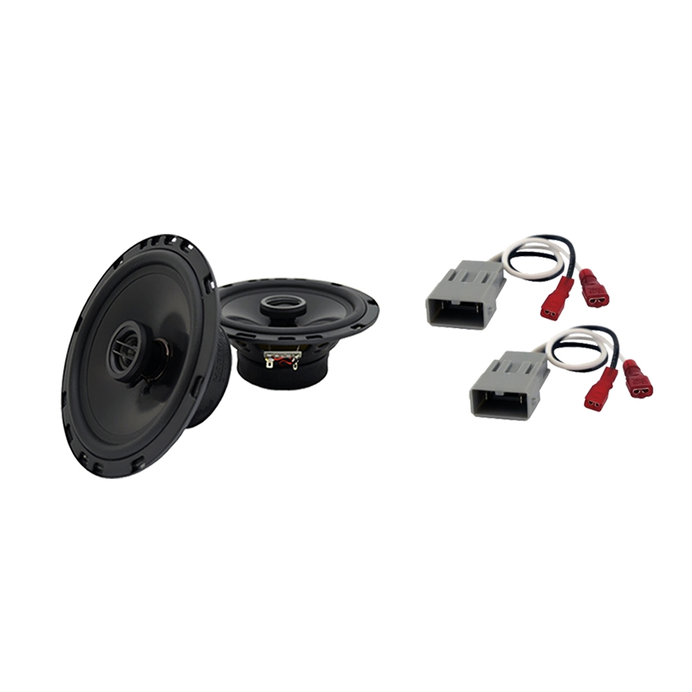 Harmony Audio Bundle Compatible with 1993-1997 Honda Civic Del Sol HA-C65 6.5? Replacement 350W Speakers & Grills with HA-727800 Replacement Harness