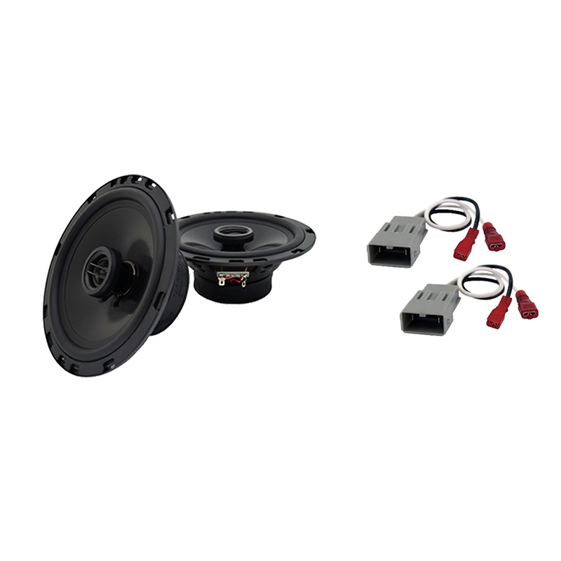 Harmony Audio Bundle Compatible with 2007-2011 Honda CR-V HA-C65 6.5? Replacement 350W Speakers & Grills with HA-727800 Replacement Harness