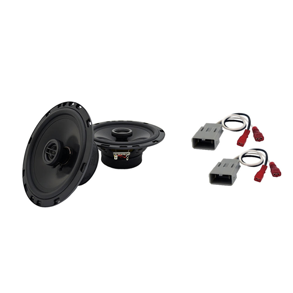 """Harmony Audio Bundle Compatible With 2007-2011 Honda CR-V HA-R65 6.5"""" Replacement 300W Speakers And HA-727800 Speaker Replacement Harness"""